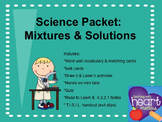 Science Packet: Mixtures and Solutions