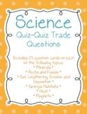 Science Quiz-Quiz-Trade Game Questions