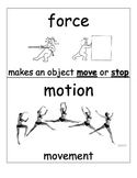 Science Vocabulary Cards Force and Motion