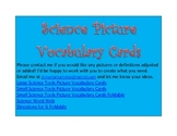 Science Vocabulary Picture Tools Cards and Word Web