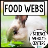 Science Weekly Five Stations- Food Webs
