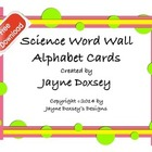 Science Word Wall Alphabet