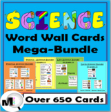 Science Word Wall Cards Mega-Bundle