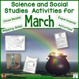 Science and Social Studies Printables for March
