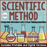 Scientific Method Homework / Study Guide (Science Skills W