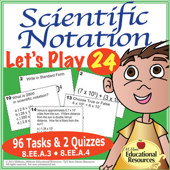 Scientific Notation Let's Play 24 Challenge