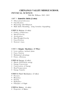 Scientific Skills Whole Unit (Physics Metrics Measuring Ob