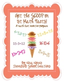 Scoop Out the Math Facts (1st grade) - a math fact incenti