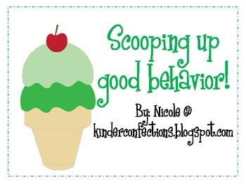 Scooping Up Good Behavior Clip Chart