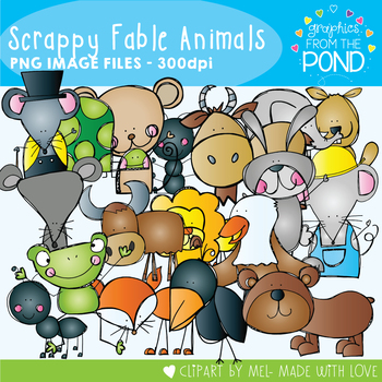Scrappy Fable Animals Clipart Set