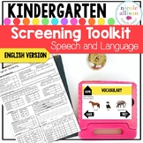 Screening Toolkit for Kindergarten {Speech and Language}
