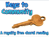 Script: Keys to Community choral reading & JPEGs