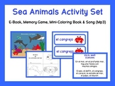Sea Animals Activity Set: Games and Song {Spanish}