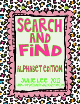 Search & Find Alphabet Edition