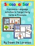 Seasonal Activity Sort {Expressive Language, Pronouns & Verbs}