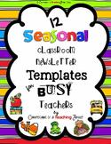 Seasonal Classroom Newsletter Templates for Busy Teachers