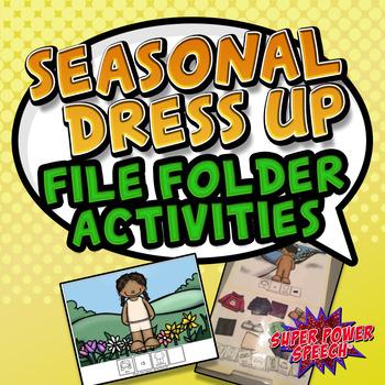 Seasonal Dress Up (File Folder Basic Activities for Basic