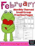 Monthly Themed Small Group Practice Pages {February}
