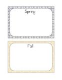 Seasons Sort File Folder Game - Sorting Pictures by Season