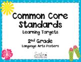 Second Grade Common Core Language Arts  Standards Posters-