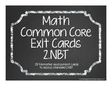 Second Grade Common Core Math Exit Cards 2.NBT