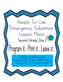 Second Grade No PrepEditable Elementary Substitute, Emerge