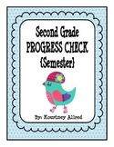 Second Grade Math Progress Assessment for Semester (January)