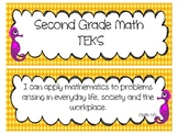 Second Grade Newly Revised Math TEKS Cards