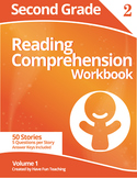 Second Grade Reading Comprehension Workbook - Volume 1 (50
