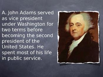 Second President John Adams Notes PowerPoint
