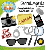 Secret Agents / Detectives Clipart Set — Over 10 Graphics!