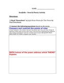 Seedfolks Novel and Poetry Activity (Student Examples included)