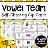 Self-Checking Vowel Team Clip Cards