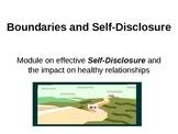 Self-Disclosure, Boundaries and the Johari Window for effe