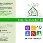 Self Esteem Challenge Pack - targets, posters & worksheets