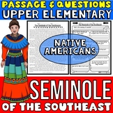 Seminole Native Americans Passage and Questions