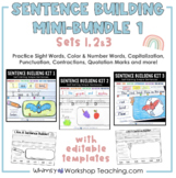Sentence Builder Full Year Bundle (215 pages) Whimsy Works