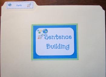 Sentence Building Folder - Earth (Common Core)