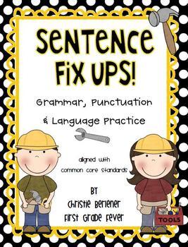 Sentence Fix-Ups! {Grammar, Punctuation, Language & Handwr