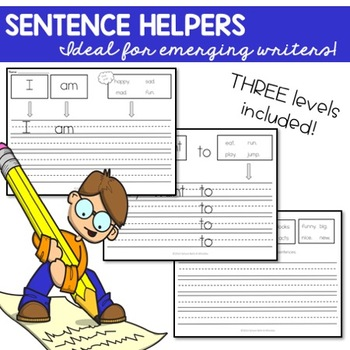 Sentence Helpers-Emergent Writers or Special Ed