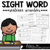 Sentence Scrambles {sight word practice}