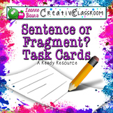 Sentence or Fragment Task Cards