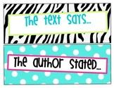 Sentence starters, sentence frame, literacy, text talk
