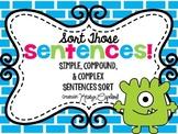 Sentences Sorting Center: Simple, Compound, and Complex