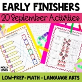 September BAT Book - 20 Common Core Activities for Early F