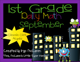 First Grade Daily Math September