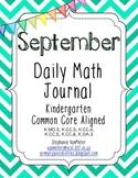 September Daily Math Journal (Common Core Aligned)