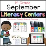 September Literacy Center Menu 1st Grade