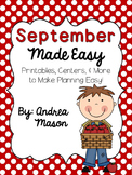 September Made Easy!  Printables, Centers, and More to Mak