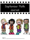 September Math Journal for Back to School